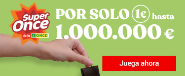 Super Once de la ONCE. Y ahora, 3 sorteos diarios. Por solo 1€ gana 1.000.000 €.